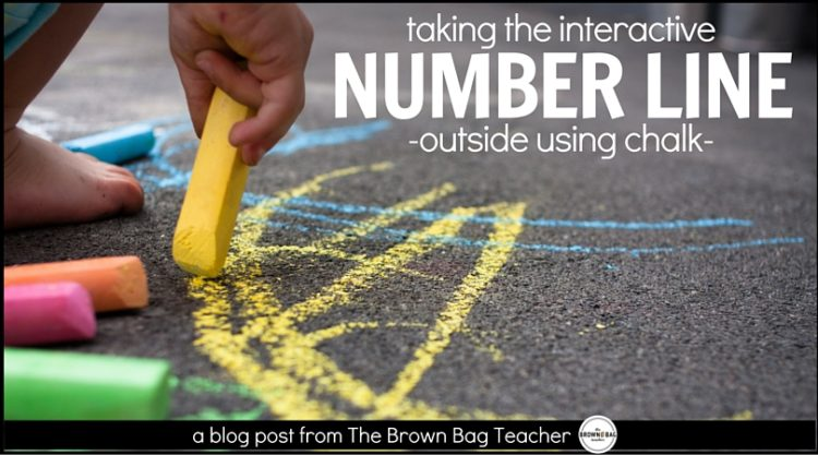 Number Lines in 1st Grade: Outdoor Chalk Style