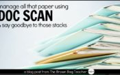 Digitizing and Organizing Paper Handouts with DocScan HD