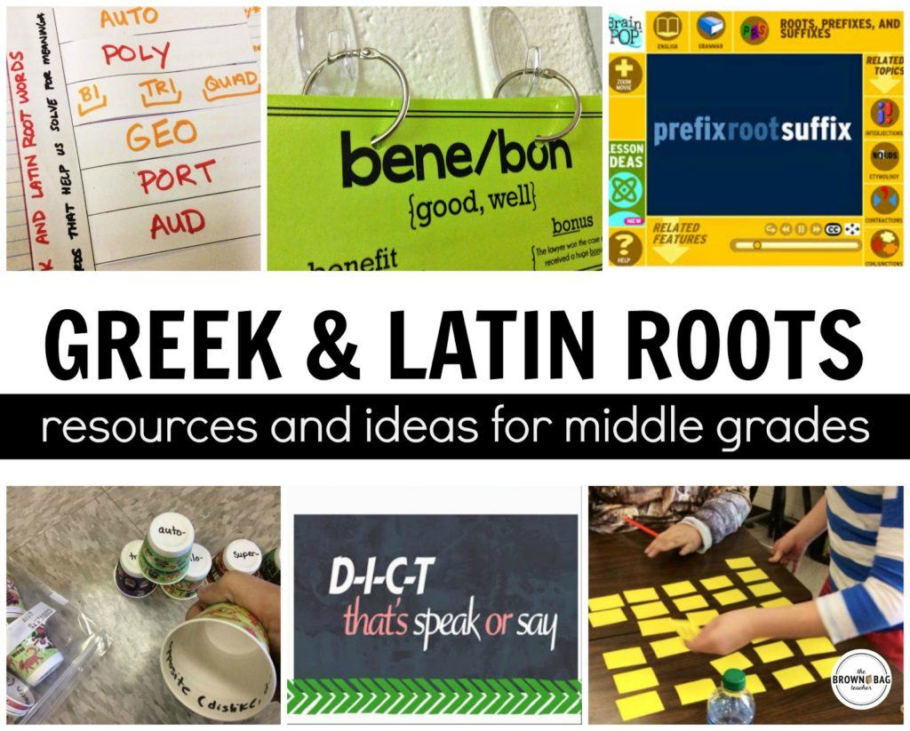 Greek and Latin Roots - The Brown Bag Teacher
