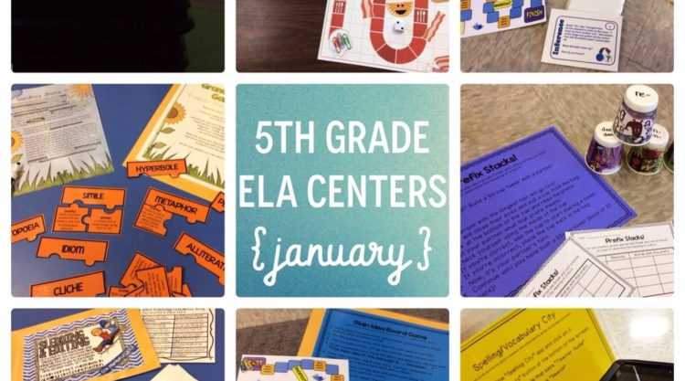 January 5th Grade Reading Centers