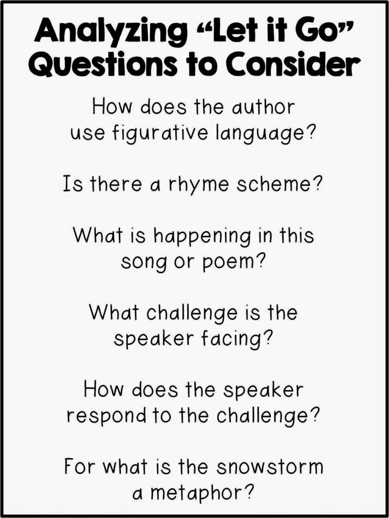 Worksheet Rhyming Questions thesis rhyme reviewing theme with frozen s quot let it go the brown bag teacher teacher