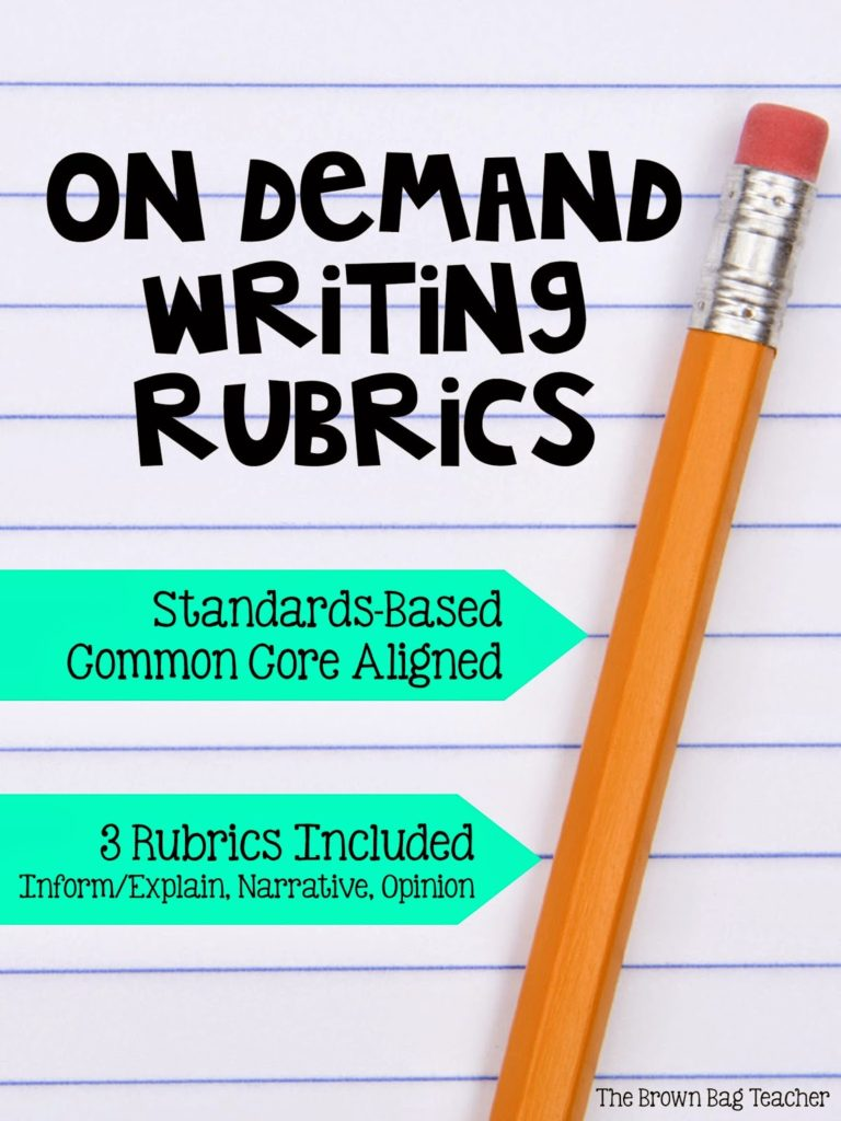Reading Response Letters & On Demand Writing - The Brown Bag Teacher