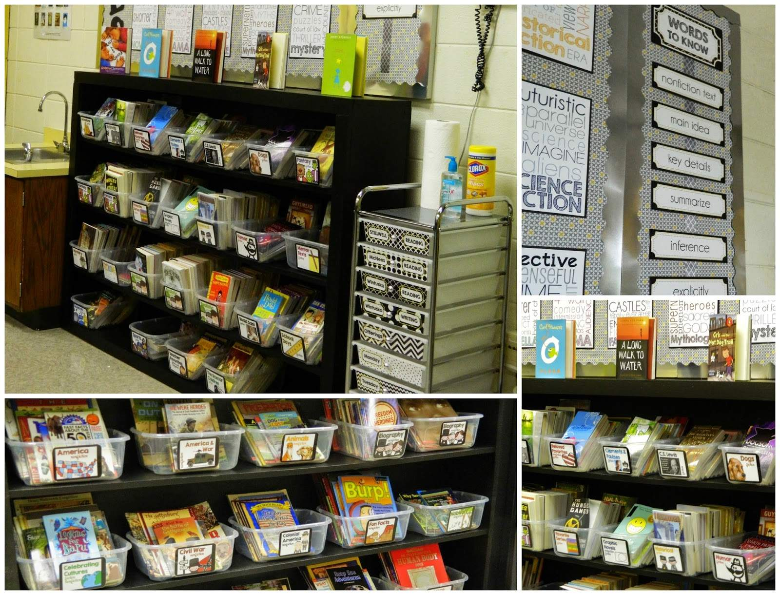Classroom Schedule Ideas ~ Curating a th grade classroom library the brown bag teacher