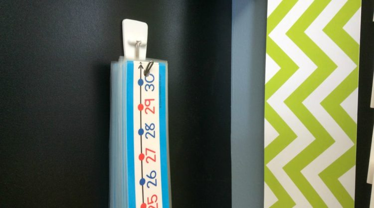 Number Lines: An Easy Storage Idea