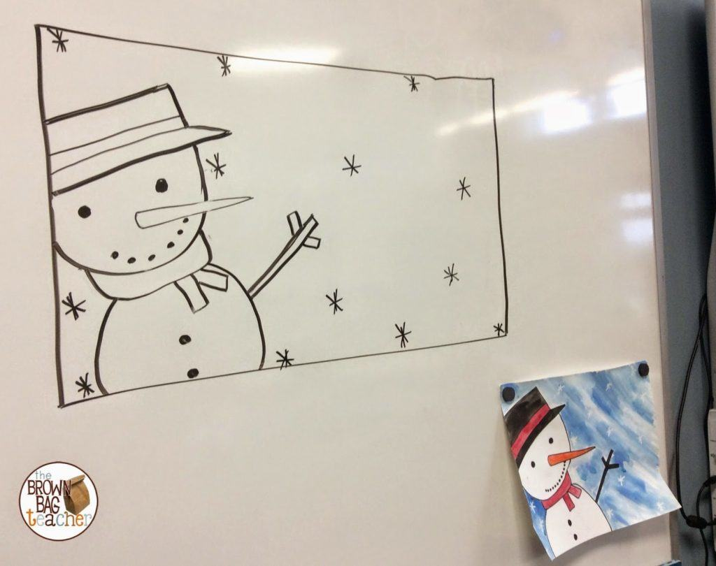 Snowman Directed Drawings The Brown Bag Teacher