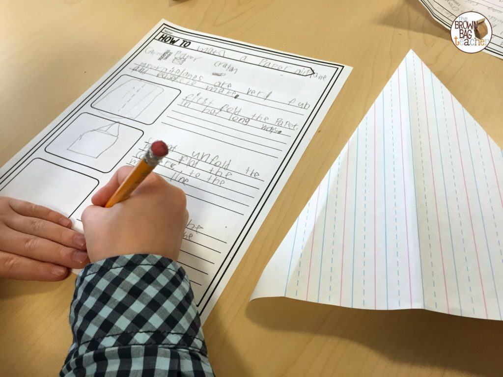 1st grade how to writing the brown bag teacher why the thin writing paper instead of copy paper great question friend as i was practicing for this lesson oh yes i practiced i learned that paper