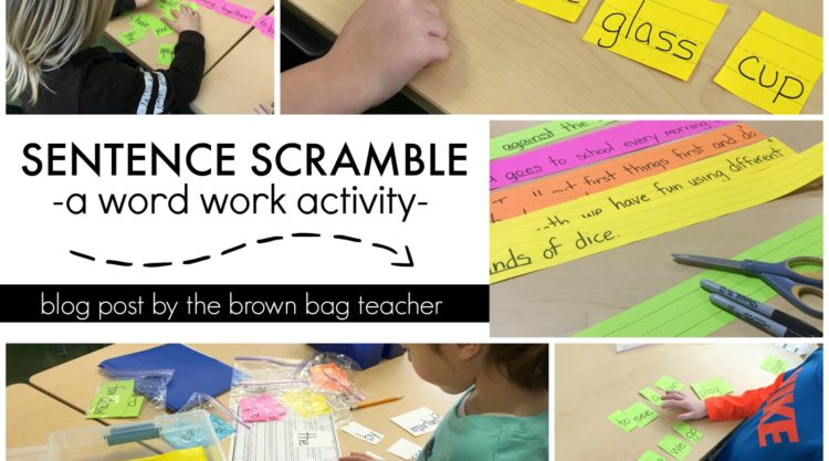 Word Work: Sentence Scramble