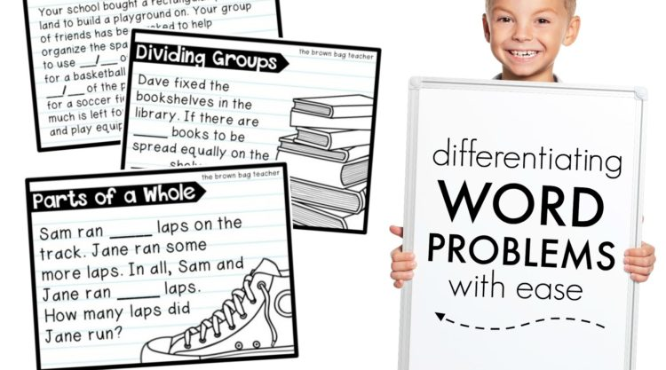 Differentiating Word Problems: An Easy Solution
