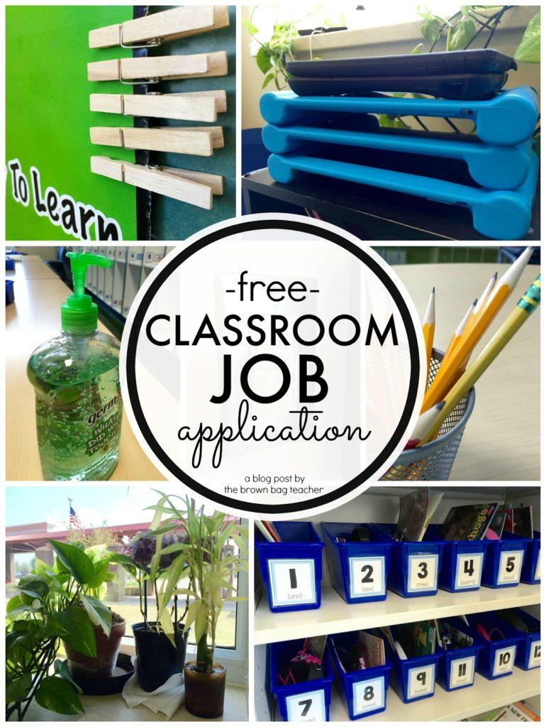 Classroom Job Ideas 1st Grade ~ Classroom jobs in st grade the brown bag teacher