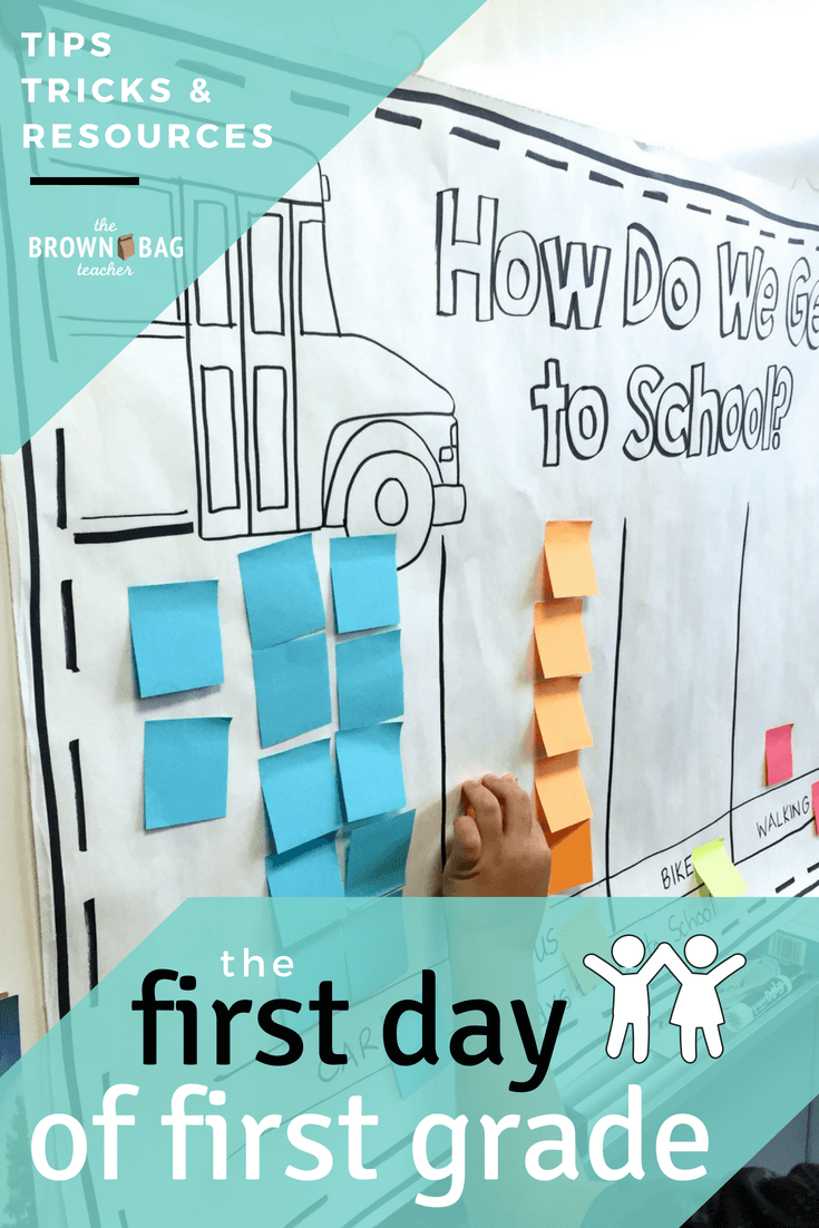 The First Day of 1st Grade - The Brown Bag Teacher