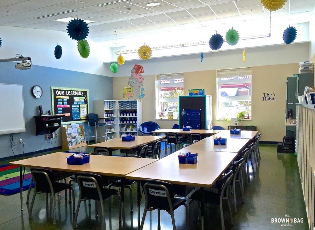 Classroom Table Design ~ St grade classroom reveal the brown bag