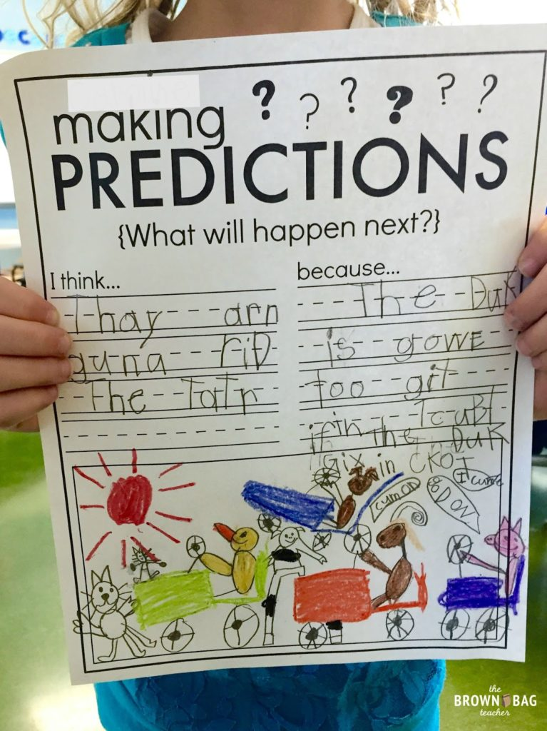 Making Teacher Worksheets : Making predictions st grade read aloud the brown bag