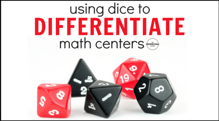 Differentiating Math Centers with Dice