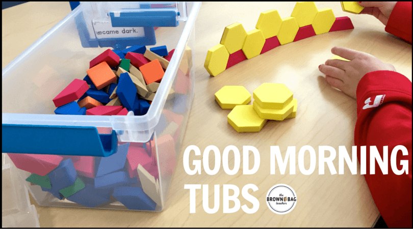 Build play and exploration into your day with Morning Tubs! I love this paperless morning work alternative!
