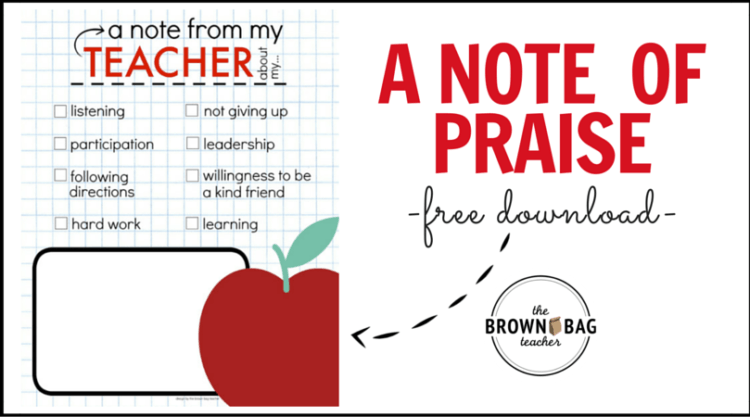 A PBIS Idea: Positive Notes Home