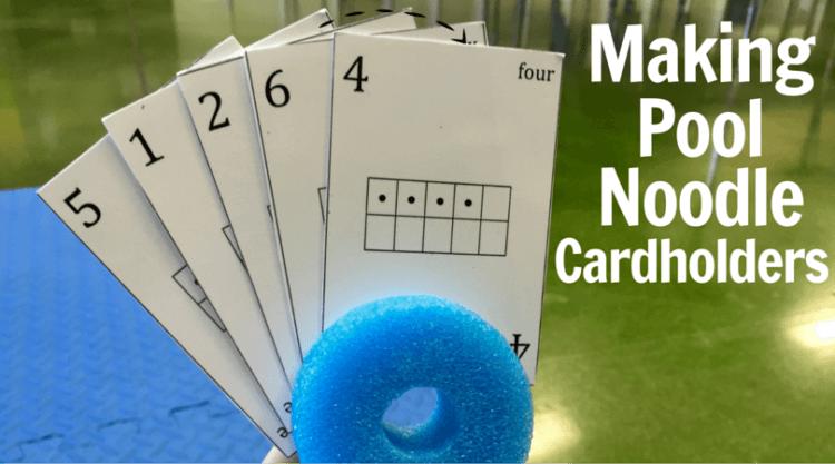Teacher Hack: Pool-Noodle Card Holders