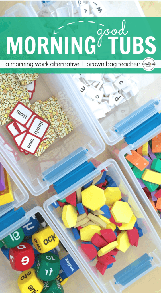 """Build play and exploration into your day with Morning Tubs! I love this paperless morning """"work"""" alternative!"""