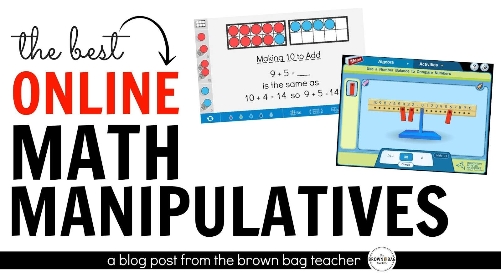 Math Manipulatives offer students a real, hands-on way to explore a mathematical concept, build their own meaning, and help develop number sense!