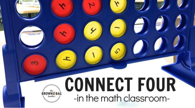 Connect 4 as a Math Center