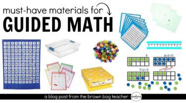 Guided Math Materials FB