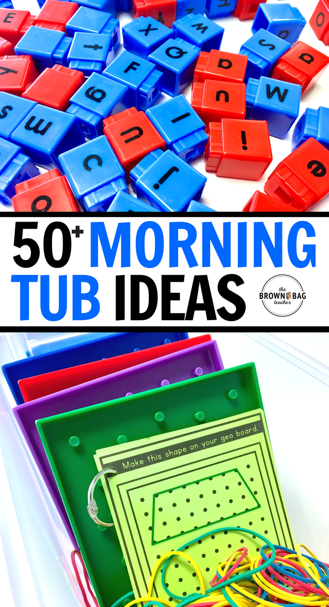 50 Morning Tub Ideas The Brown Bag Teacher